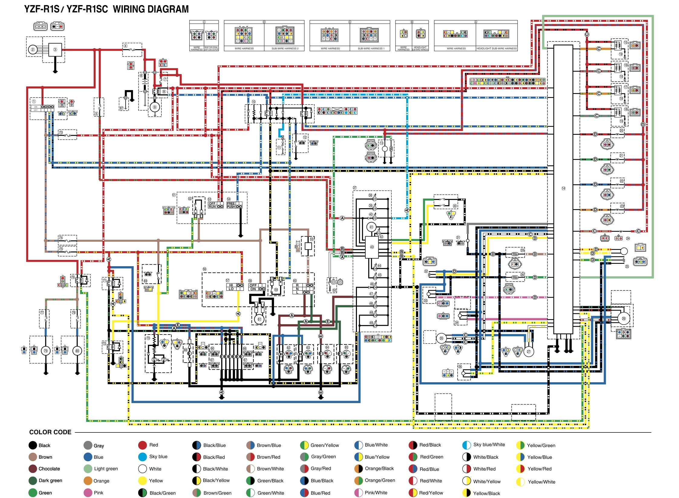 Fz6r Wiring Diagram Schemes 2005 Yamaha V Star 1100 Rhino 700 Basic Electrical Schematic Diagrams